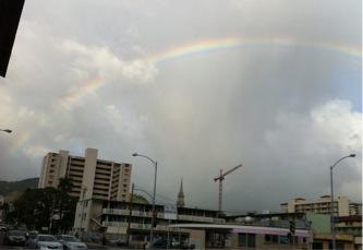 虹が出ました